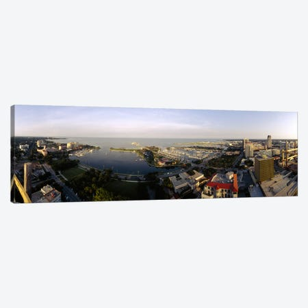 High angle view of buildings at the waterfront, Tampa Bay, Florida, USA Canvas Print #PIM5955} by Panoramic Images Art Print