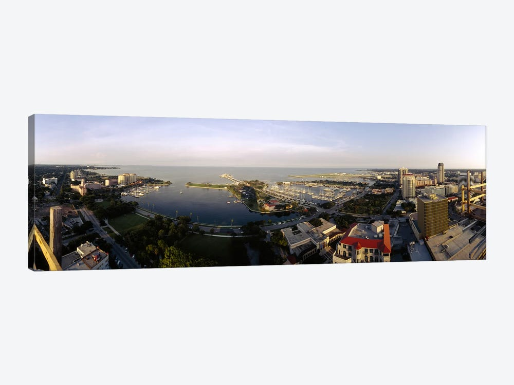 High angle view of buildings at the waterfront, Tampa Bay, Florida, USA by Panoramic Images 1-piece Canvas Art
