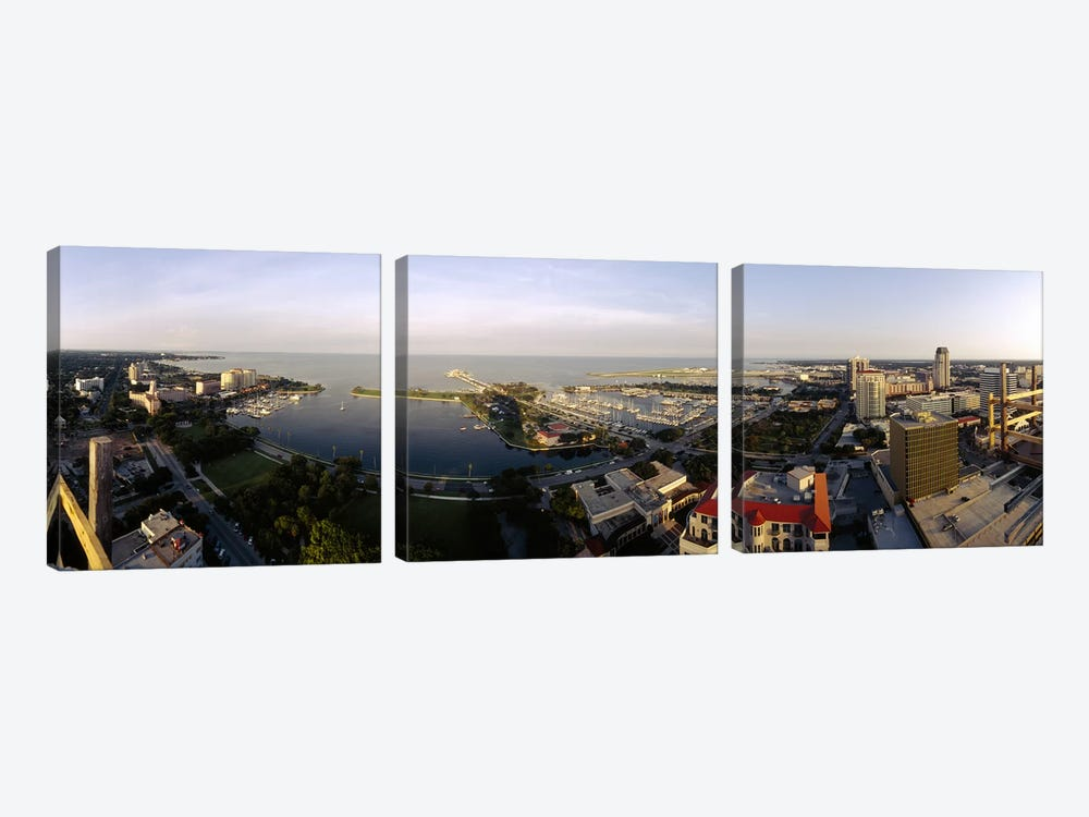 High angle view of buildings at the waterfront, Tampa Bay, Florida, USA by Panoramic Images 3-piece Canvas Art