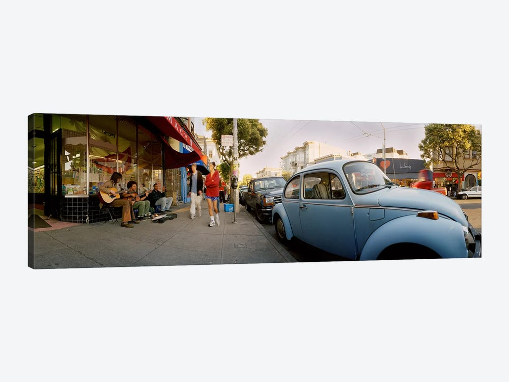 Cars parked in front of a store, Haight-Ashbury, San Francisco, California, USA by Panoramic Images 1-piece Art Print