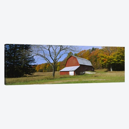 Charles Olsen Barn, Sleeping Bear Dunes National Lakeshore, Michigan, USA Canvas Print #PIM5959} by Panoramic Images Canvas Wall Art