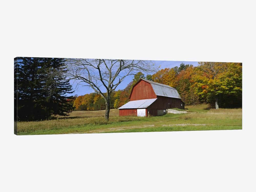 Charles Olsen Barn, Sleeping Bear Dunes National Lakeshore, Michigan, USA by Panoramic Images 1-piece Canvas Wall Art