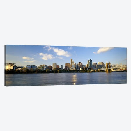 Buildings at the waterfront, Ohio River, Cincinnati, Ohio, USA Canvas Print #PIM5962} by Panoramic Images Art Print