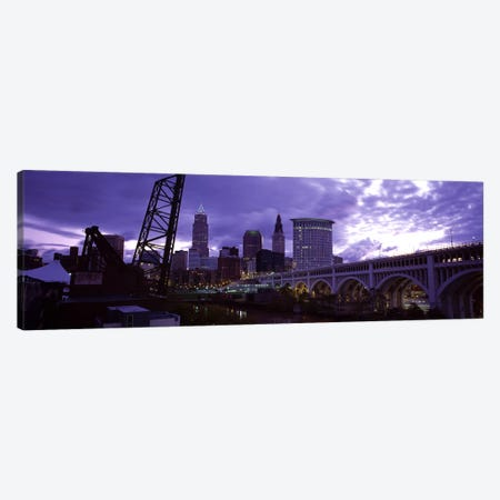 Bridge across a riverDetroit Avenue Bridge, Cleveland, Ohio, USA Canvas Print #PIM5965} by Panoramic Images Canvas Artwork