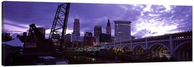 Bridge across a riverDetroit Avenue Bridge, Cleveland, Ohio, USA Canvas Print #PIM5965