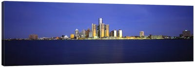 Buildings at waterfront, Detroit, Michigan, USA Canvas Print #PIM5967