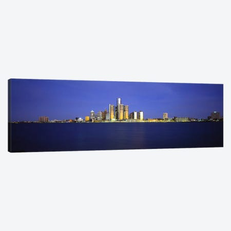 Buildings at waterfront, Detroit, Michigan, USA Canvas Print #PIM5967} by Panoramic Images Canvas Art