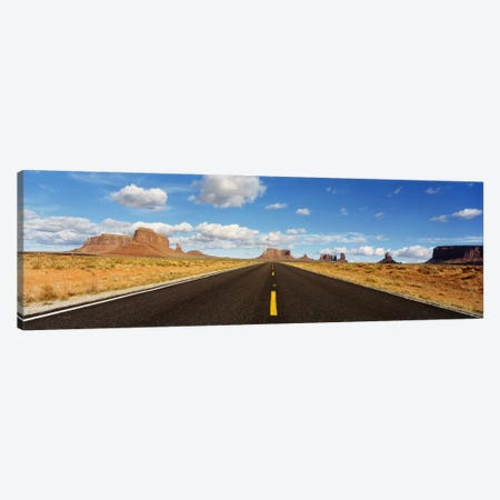 View Of Monument Valley From U.S. Route 163, Utah, USA Canvas Print #PIM596} by Panoramic Images Art Print