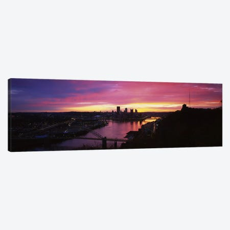 High angle view of a cityWest End Bridge, Pittsburgh, Pennsylvania, USA Canvas Print #PIM5970} by Panoramic Images Canvas Artwork