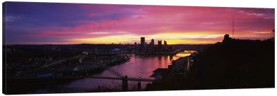 High angle view of a cityWest End Bridge, Pittsburgh, Pennsylvania, USA Canvas Print #PIM5970