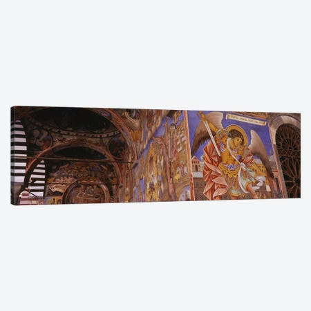 Low angle view of fresco on the walls of a monastery, Rila Monastery, Bulgaria Canvas Print #PIM5982} by Panoramic Images Canvas Art Print