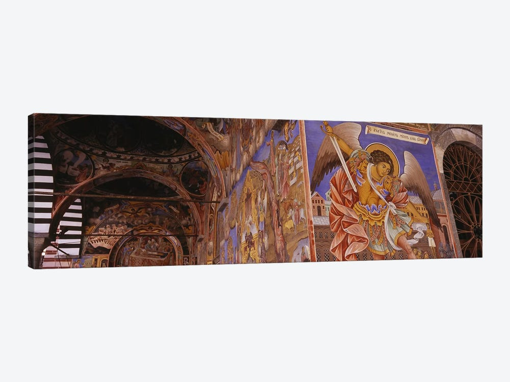Low angle view of fresco on the walls of a monastery, Rila Monastery, Bulgaria by Panoramic Images 1-piece Canvas Wall Art