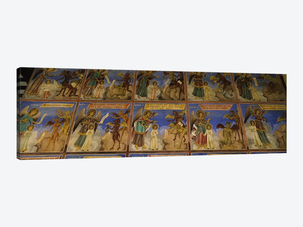 Low angle view of fresco on the walls of a monastery, Rila Monastery, Bulgaria #2 by Panoramic Images 1-piece Canvas Print