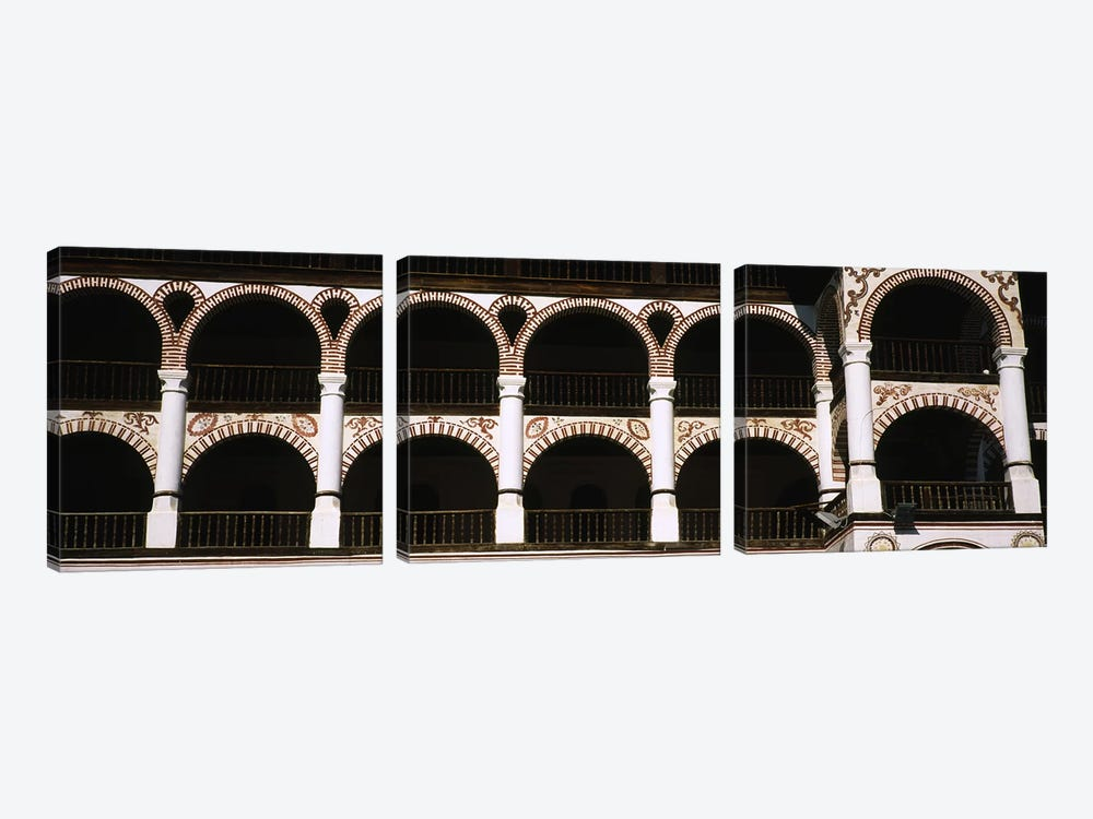 Low angle view of a monastery, Rila Monastery, Bulgaria by Panoramic Images 3-piece Canvas Art