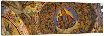 Low angle view of fresco on the ceiling of a monastery, Rila Monastery, Bulgaria Canvas Print #PIM5985