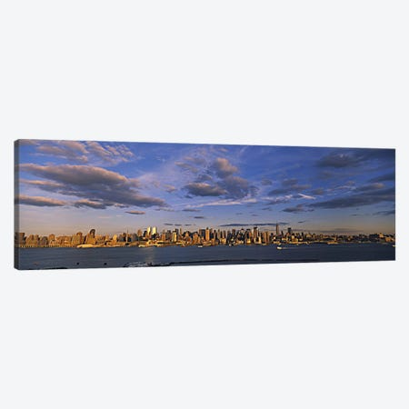 Skyscrapers at the waterfront, Manhattan, New York City, New York State, USA Canvas Print #PIM5988} by Panoramic Images Canvas Print