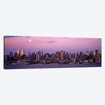 Skyscrapers at the waterfront, Manhattan, New York City, New York State, USA #2 Canvas Print #PIM5989} by Panoramic Images Art Print