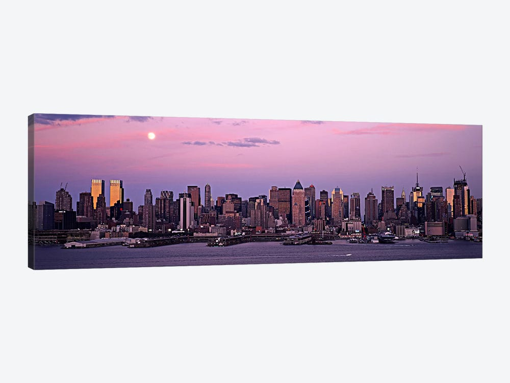 Skyscrapers at the waterfront, Manhattan, New York City, New York State, USA #2 by Panoramic Images 1-piece Canvas Art Print