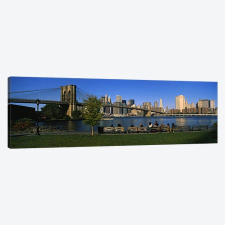 Lower Manhattan And The Brooklyn Bridge As Seen From Brooklyn Bridge Park, New York City, New York, USA Canvas Print #PIM5994} by Panoramic Images Canvas Print