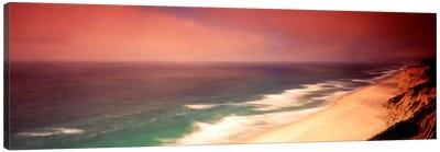 Overcast Coastal Landscape, San Mateo County, California, USA Canvas Art Print
