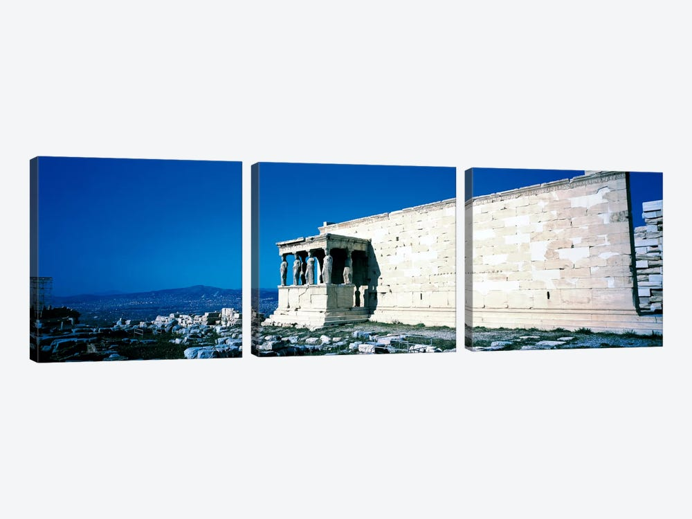 Parthenon Complex Athens Greece by Panoramic Images 3-piece Canvas Art