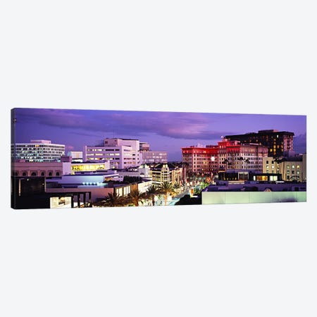 Evening View, Rodeo Drive, Beverly Hills, California, USA Canvas Print #PIM6000} by Panoramic Images Canvas Wall Art