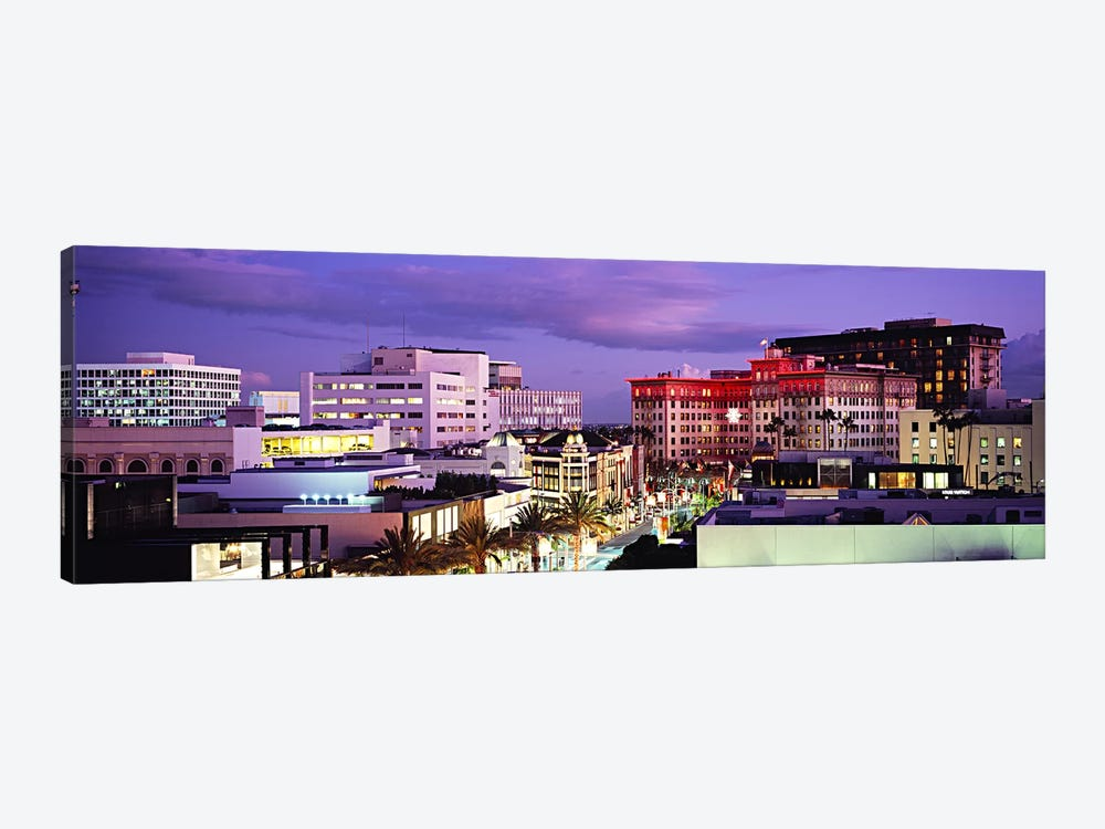 Evening View, Rodeo Drive, Beverly Hills, California, USA by Panoramic Images 1-piece Canvas Wall Art