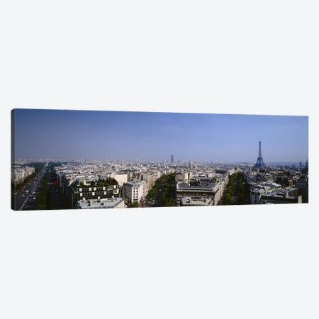 High-Angle View, Paris, Ile-de-France, France Canvas Print #PIM6002} by Panoramic Images Canvas Wall Art