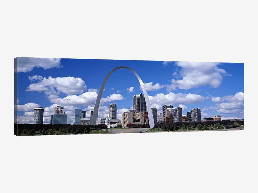 Gateway Arch & Downtown Skyline, St. Louis, Missouri, USA by Panoramic Images 1-piece Canvas Art