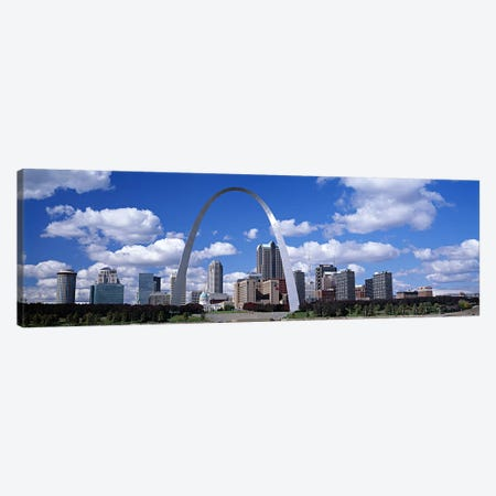 Gateway Arch & Downtown Skyline, St. Louis, Missouri, USA Canvas Print #PIM6008} by Panoramic Images Canvas Art