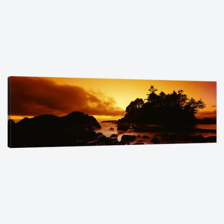 Majestic Coastal Sunset, Tofino, Vancouver Island, British Columbia, Canada Canvas Print #PIM6009} by Panoramic Images Canvas Wall Art
