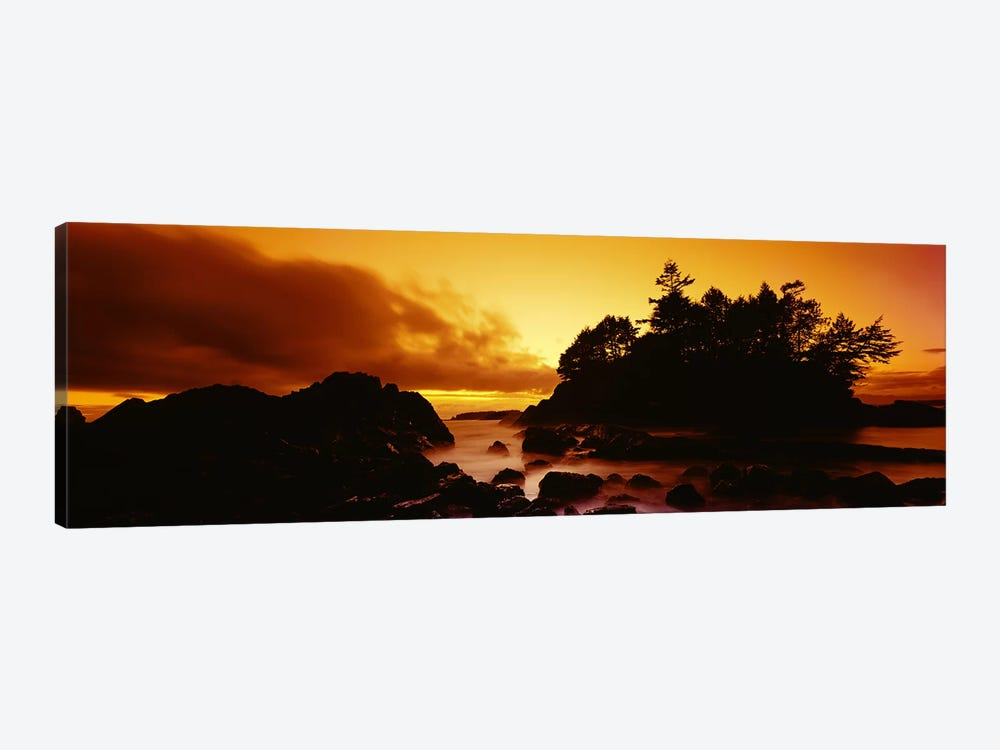 Majestic Coastal Sunset, Tofino, Vancouver Island, British Columbia, Canada by Panoramic Images 1-piece Canvas Print