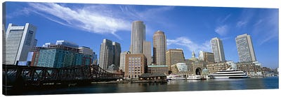 Skyscrapers at the waterfront, Boston, Massachusetts, USA Canvas Print #PIM6012