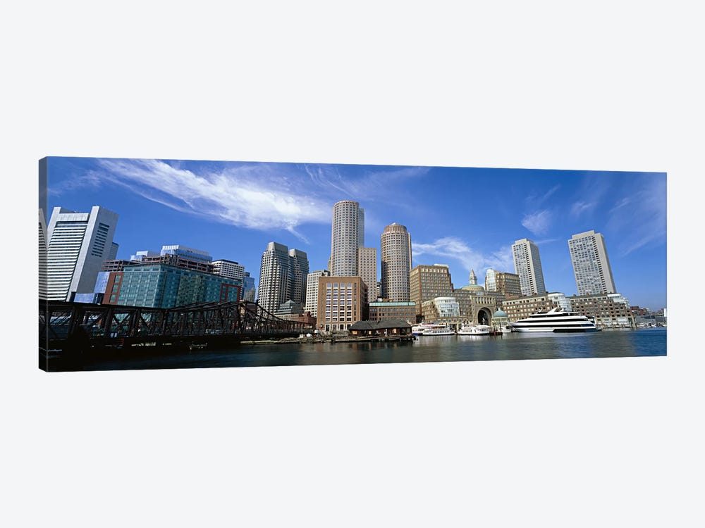 Skyscrapers at the waterfront, Boston, Massachusetts, USA by Panoramic Images 1-piece Art Print