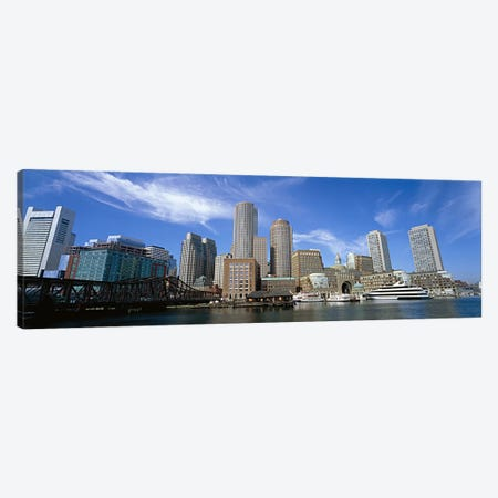 Skyscrapers at the waterfront, Boston, Massachusetts, USA Canvas Print #PIM6012} by Panoramic Images Canvas Art Print