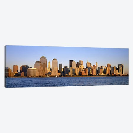 Buildings at the waterfront, Manhattan, New York City, New York State, USA Canvas Print #PIM6013} by Panoramic Images Canvas Print
