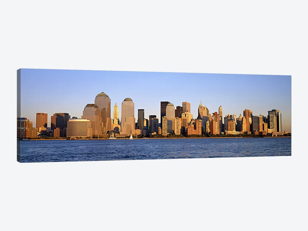 Buildings at the waterfront, Manhattan, New York City, New York State, USA by Panoramic Images 1-piece Canvas Art