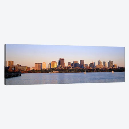 Skyscrapers at the waterfront, Boston, Massachusetts, USA Canvas Print #PIM6016} by Panoramic Images Canvas Wall Art