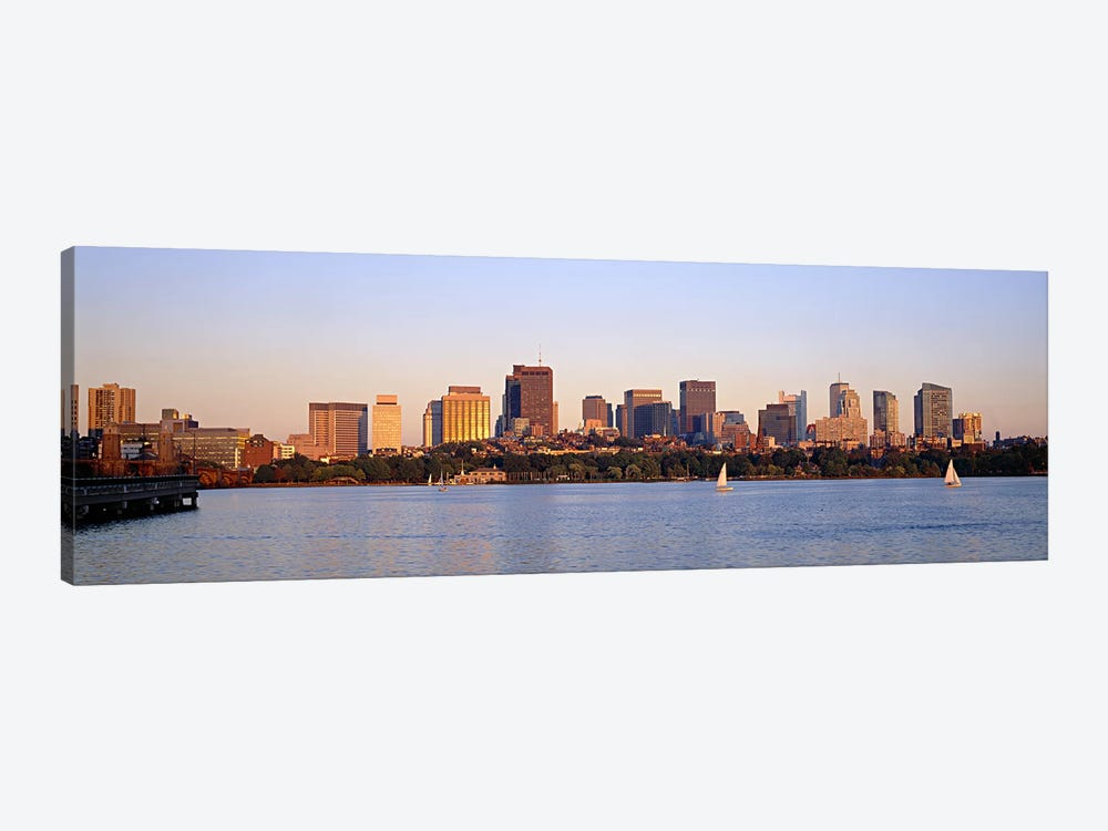 Skyscrapers at the waterfront, Boston, Massachusetts, USA by Panoramic Images 1-piece Canvas Print