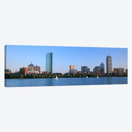 Buildings at the waterfront, Back Bay, Boston, Massachusetts, USA Canvas Print #PIM6025} by Panoramic Images Canvas Art Print