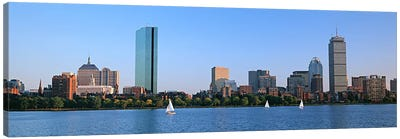 Buildings at the waterfront, Back Bay, Boston, Massachusetts, USA Canvas Art Print