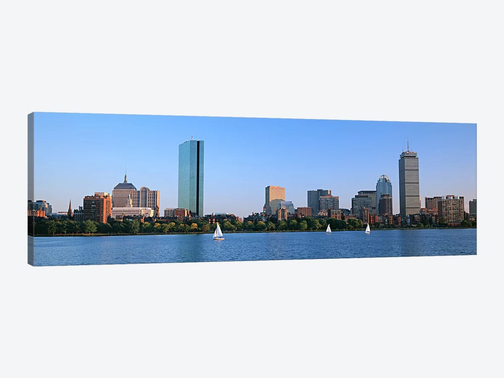 Buildings at the waterfront, Back Bay, Boston, Massachusetts, USA 1-piece Canvas Art Print
