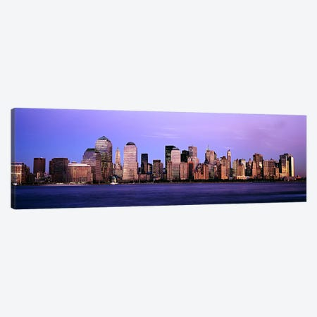 Buildings at the waterfront, Manhattan, New York City, New York State, USA #2 Canvas Print #PIM6026} by Panoramic Images Art Print