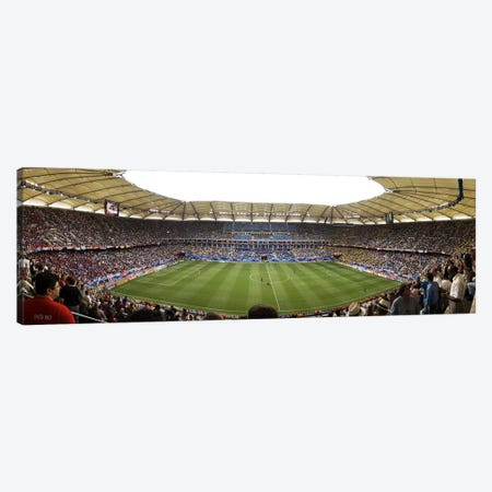 Crowd in a stadium to watch a soccer match, Hamburg, Germany Canvas Print #PIM6028} by Panoramic Images Canvas Artwork