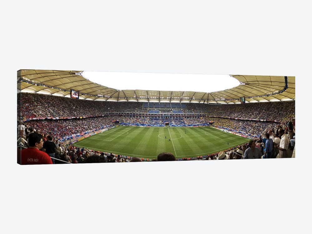 Crowd in a stadium to watch a soccer match, Hamburg, Germany by Panoramic Images 1-piece Canvas Art