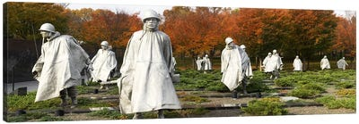 Statues of army soldiers in a park, Korean War Memorial, Washington DC, USA Canvas Print #PIM6032