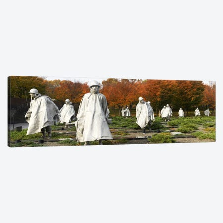 Statues of army soldiers in a park, Korean War Memorial, Washington DC, USA Canvas Print #PIM6032} by Panoramic Images Canvas Print
