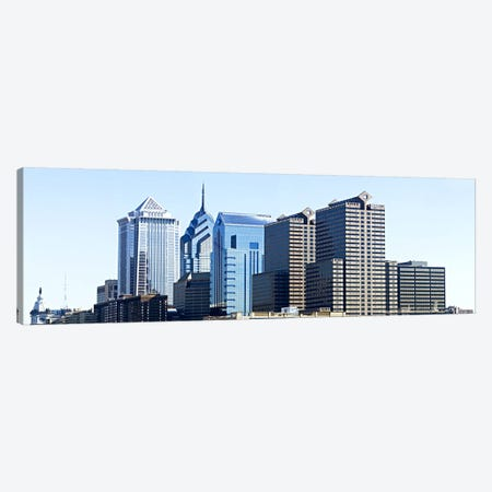 Skyscrapers in a city, Philadelphia, Pennsylvania, USA #6 Canvas Print #PIM6035} by Panoramic Images Canvas Artwork
