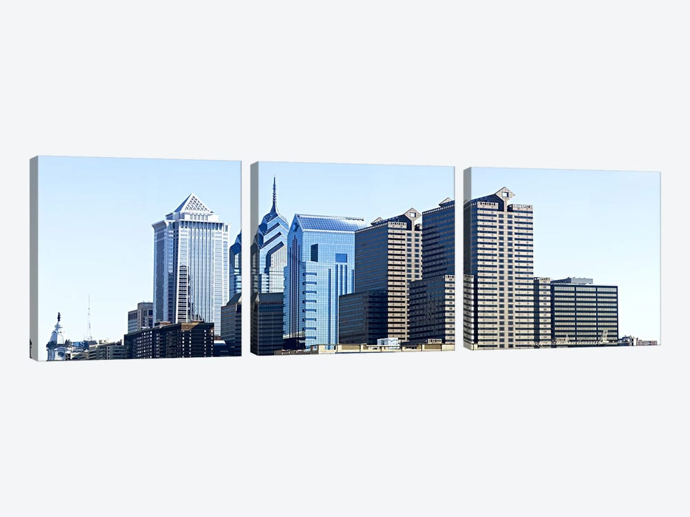 Skyscrapers in a city, Philadelphia, Pennsylvania, USA #6 by Panoramic Images 3-piece Canvas Artwork