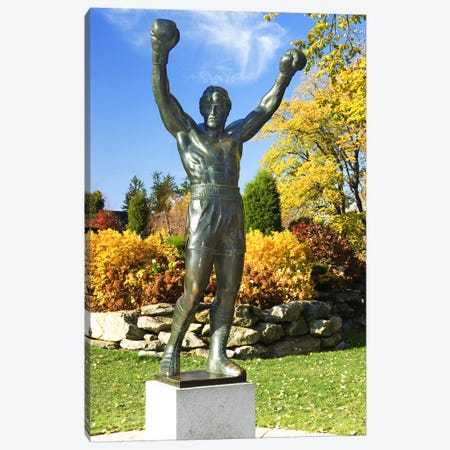 Statue of Rocky Balboa in a park, Philadelphia Museum of Art, Benjamin Franklin Parkway, Fairmount Park, Philadelphia, Pennsylvania, USA Canvas Print #PIM6036} by Panoramic Images Canvas Art
